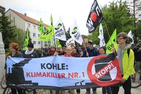 Anti-Kohledemonstration in Welzow